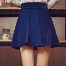 Danjeaner M-5XL, 10 цветов, женские плиссированные юбки с высокой талией, брюки, лето 2018, супер эластичные мини юбки, Faldas Mujer Saias(China)