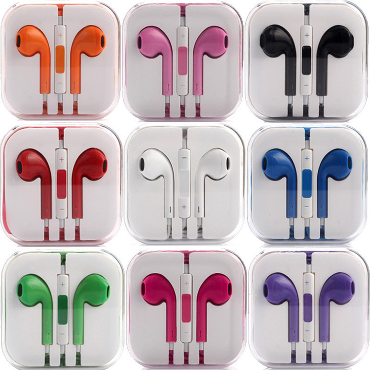 High Quality Original Genuine Earphone Headsets Headphone Earpiece for IPHONE 4 4S 5 5S 6 Plus with Mic microphone Free Shipping(China (Mainland))