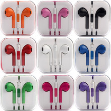 Hot High Quality Original Genuine Earphone Headsets Headphone for IPHONE 4 4S 5 5S 6 Plus with Mic microphone Factory Wholesale