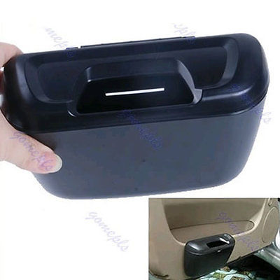 Free Shipping Mini Auto Car Trash Rubbish Can Garbage Dust Case Holder Box Bin Black(China (Mainland))
