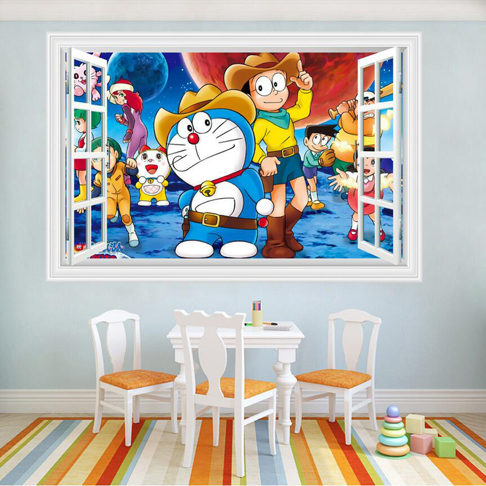 Popular baby wall decorating stickers doraemon buy cheap for 3d baby room design