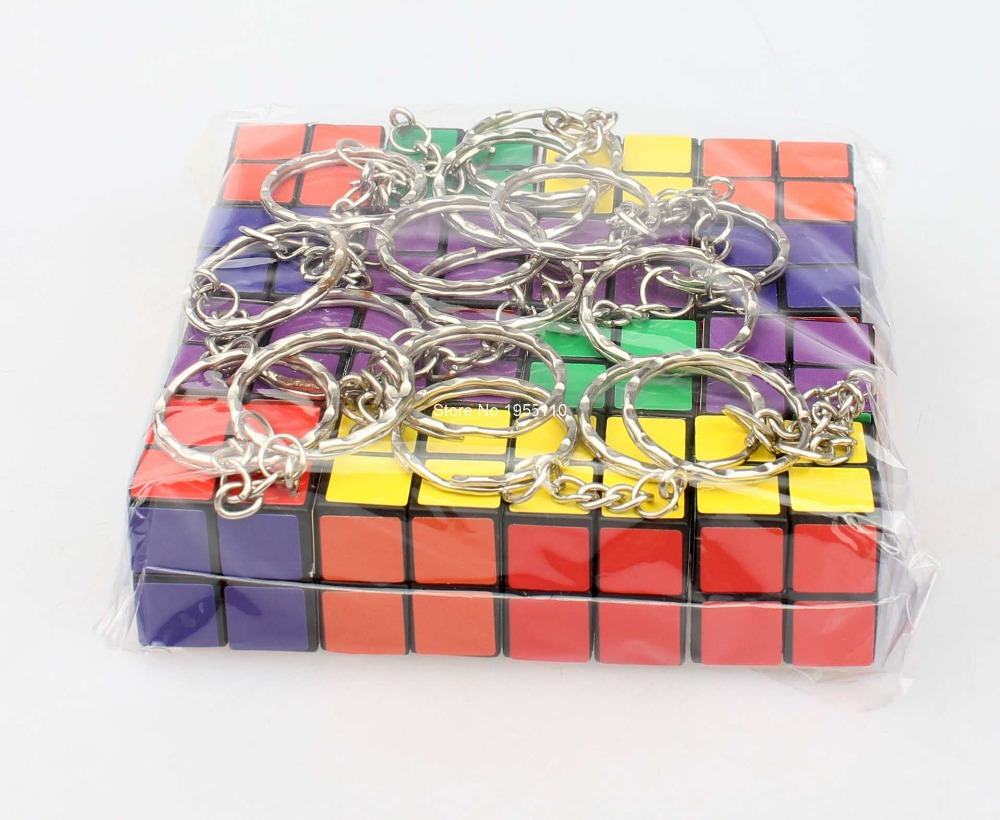 16Pcs/Lot GuoDing Xiao 2x2x2 24mm IQ Test Magic Cube Puzzle Educational Toy Special Toys With Keychain<br><br>Aliexpress