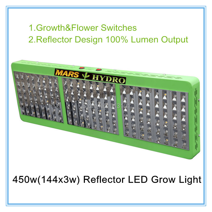 Marshydro Reflector Design 100% Lumen 720w Hydroponics LED Grow Light +Growth&Bloom Switches Indoor LED Panel For Greenhouse(China (Mainland))