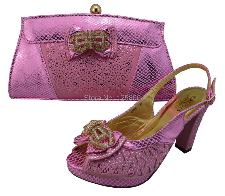 Ladies-LAVENDER-wedding-dress-shoes-with-matching-evening-bag-Crystal-chunky-heel-sandals-n ...