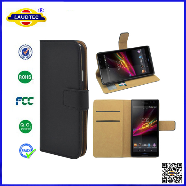 Hot Products For 2014, 400pcs/lot Book Flip Wallet Leather Case Cover For Sony Xperia T3 DHL Free Shipping--Laudtec(China (Mainland))