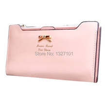 New Lovely Lady Women Purse Long Zip Wallet PU Leather Wallets Handbags Fanshion Brand Birthday Gifts