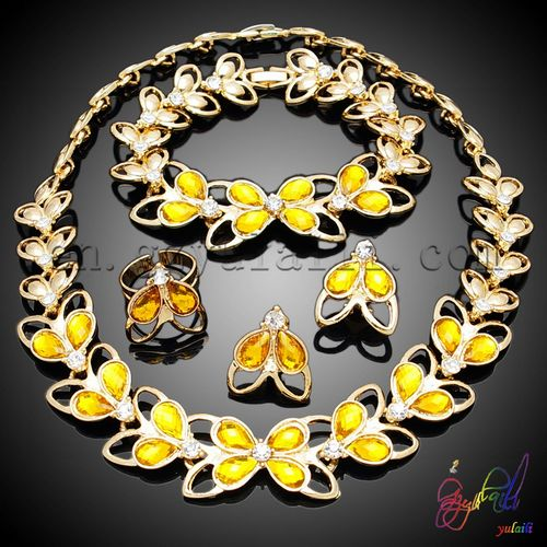 Free shipping buy necklace jewelry set fashion Immitation Jewellery 18 carat gold jewelry sets(China (Mainland))
