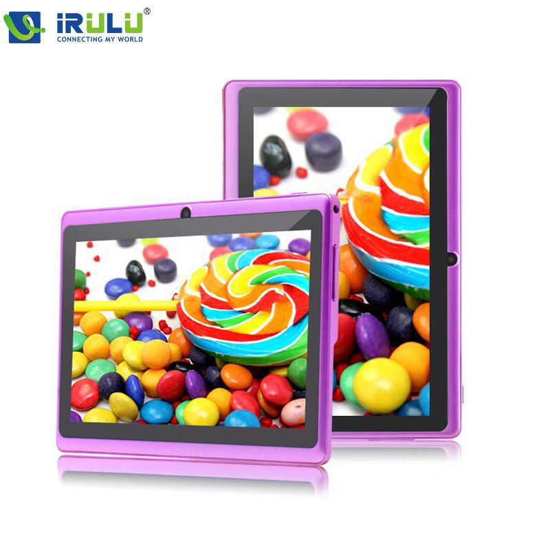 "iRULU eXpro X1 7"" Tablet PC 1024*600 HD Android 4.4 Quad Core WIFI 16GB Download Google APP Play Purple W/Black Keyboard New Hot(China (Mainland))"