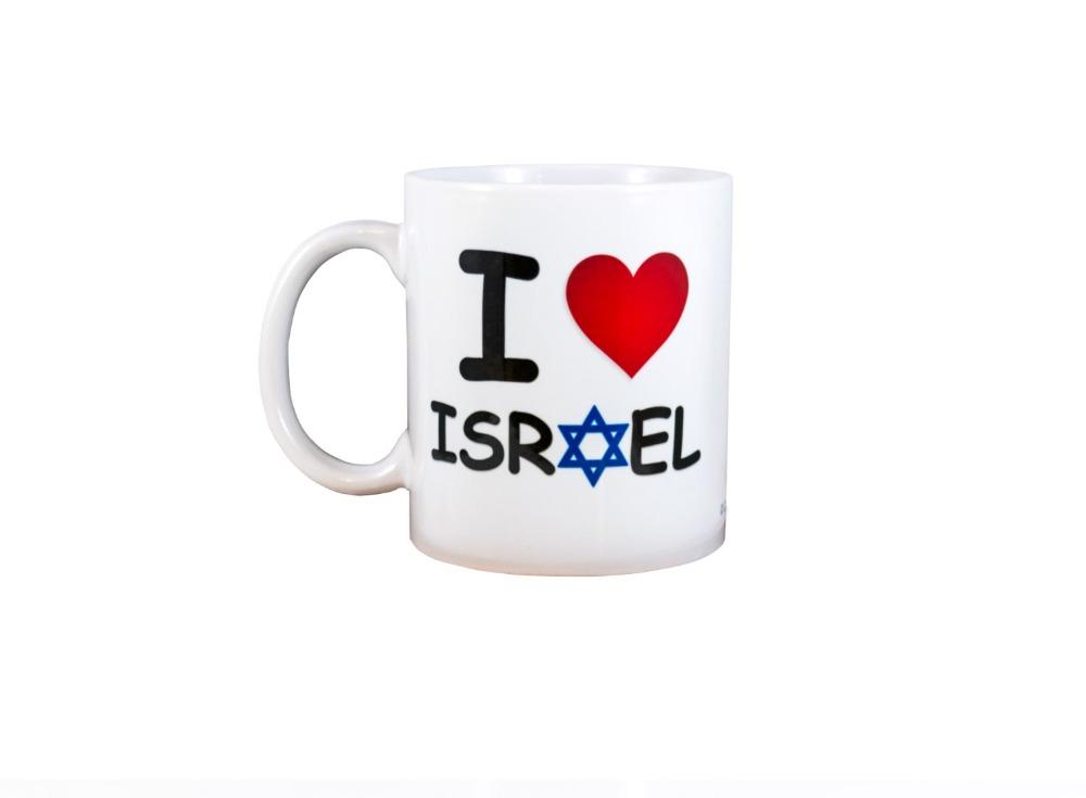 I Love Israel magic coffee mugs gifts Black color changing colour change Heat sensitive magical Tea Cups white mug gift(China (Mainland))