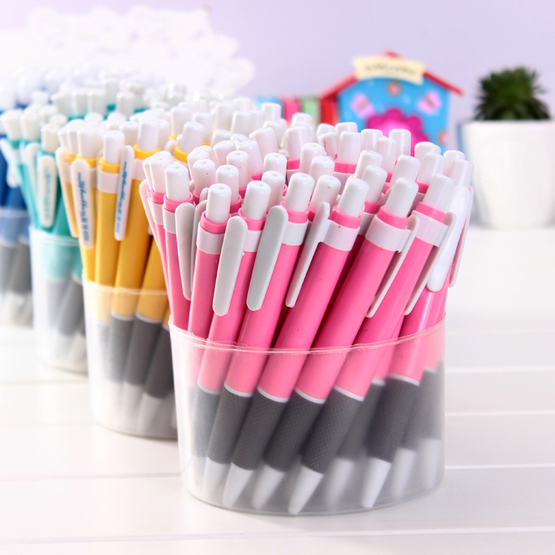Korean version of the colorful ball pen classic pen-type feel comfortable pressing for school supplies and office accessories(China (Mainland))
