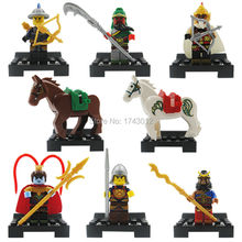 2016 China Super Heroes Enlighten 1501A Minifigures Romance of the Three Kingdoms Building Blocks Toys gift(China (Mainland))