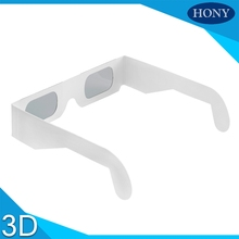 hot selling paper circular polarized 3d glasses white cardboard frame 3d polarized glasses red and blue lens circular 3D glasses(China (Mainland))