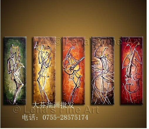 Dafen oil paintings decorative painting abstract oil paintings thick pigment musical instrument(China (Mainland))