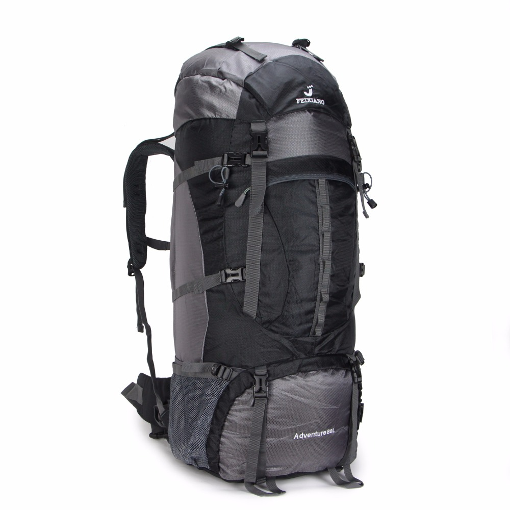 Large 80L Waterproof Military Tactical Sport Travel Outdoor Backpack Rucksack Bag With Rain cover Men Women Light weight Bag(China (Mainland))