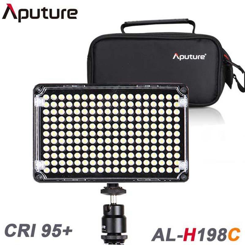 Фотография Bi-color Aputure Amaran AL-H198C LED Video Light Color Temperature Adjustment for DV Camcorder DSLR Cameras