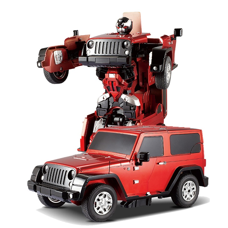 Free Shipping Jeep Reg Car Models Deformation Robot Transformation Remote Control RC Car Toys for Children Kids Gift TT665(China (Mainland))