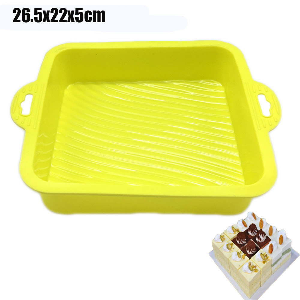 2017 New Arrival 26.5x22x5cm Big and Beautiful Square Shape 3D Silicone Cake Mold Baking Tools For Bakeware DIY Cake Tools(China (Mainland))