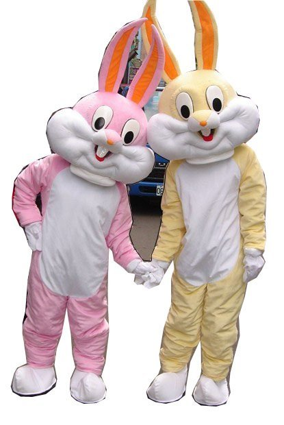 2010 Newest Cute Version Yellow Bugs Bunny Mascot Costume Cartoon Mascot Character Costume Free Shipping