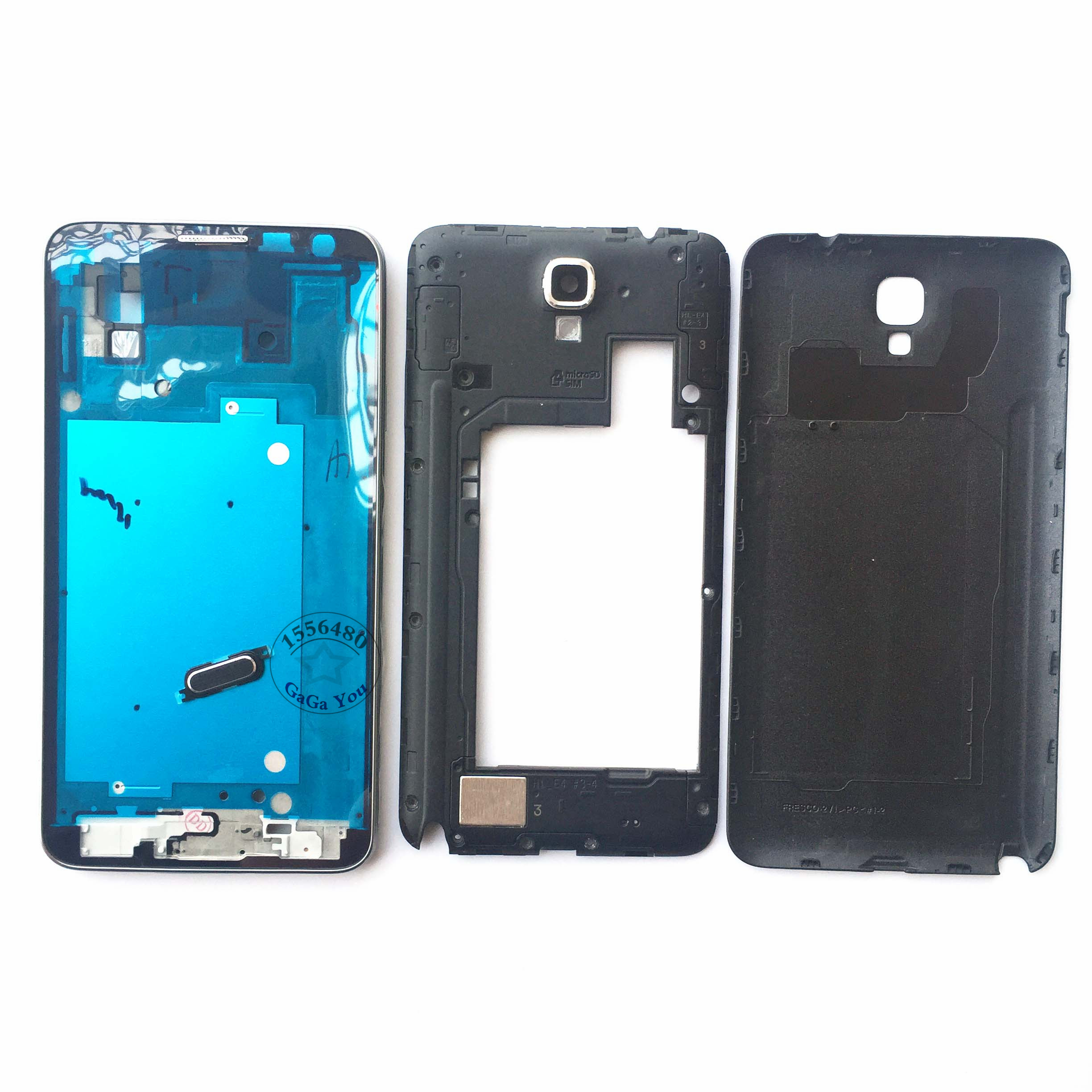 White/Black Full Set Housing Front/Middle Frame Bezel with Battery Door Back Housing + Tools for Samsung Galaxy Note 3 Mini