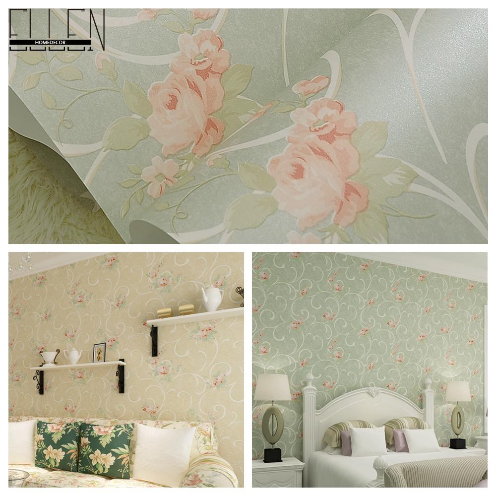 Retro Tapeten Dunkelgr?n : Green Living Room Walls