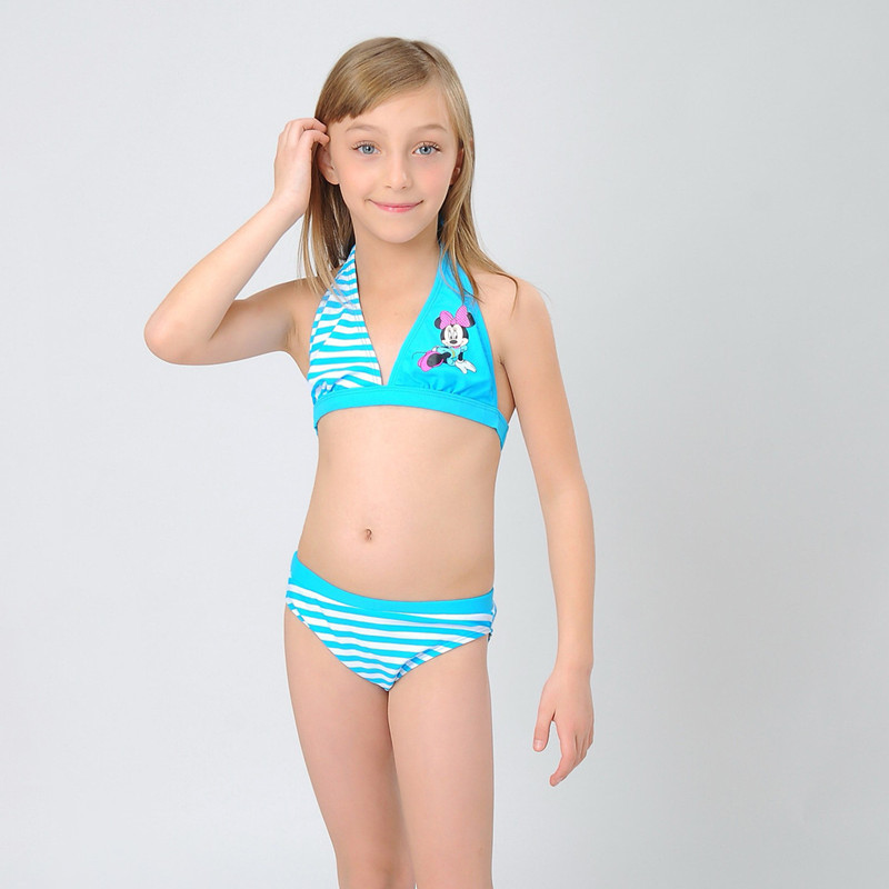 1set Lot New Fashion Lovely Cartoon Summer Bikini Set Kids 2016 Girls Swimwear Nice Backless