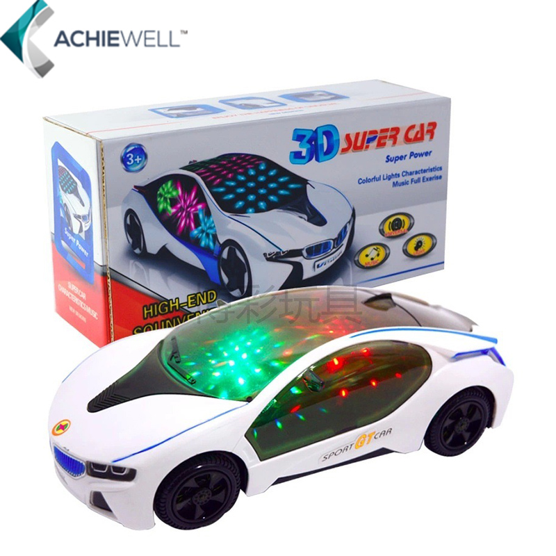 3D Super Sport GT Car Model Colorful Lights Characteristics Music Full Exerise Glow In The Dark Toy Vehicles For Children Gift(China (Mainland))