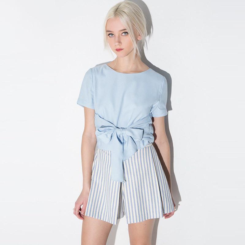 Hot Fashion Women Sweets T-Shirt Short Sleeve Cropped Feminino TShirts Bow Shirt High Quality Female Clothes Sport Tops(China (Mainland))