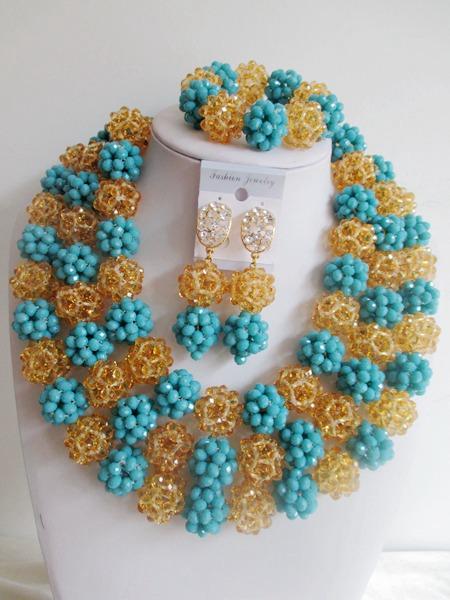 Здесь можно купить  Fashion   nigerian wedding african beads jewelry set crystal Bridal Jewelry Sets     JWN-000911  Ювелирные изделия и часы