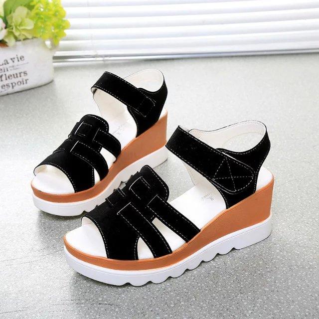 2016 All-match Women Sandals Summer Shoes Rome Thick Heel Back Strap Anti-Slippery Casual - JIUJIU Store store