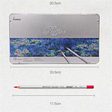 72pcs/lot Marco Raffine 72 pcs Colored Pencils Pencil Lapis De Cor Profissional Paper Box/Metal Boxed Lapis de Cor School 18.8cm(China (Mainland))
