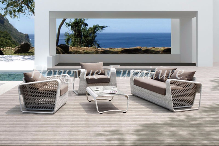 Outdoor patio white rattan furniture wicker sofa set designs(China (Mainland))