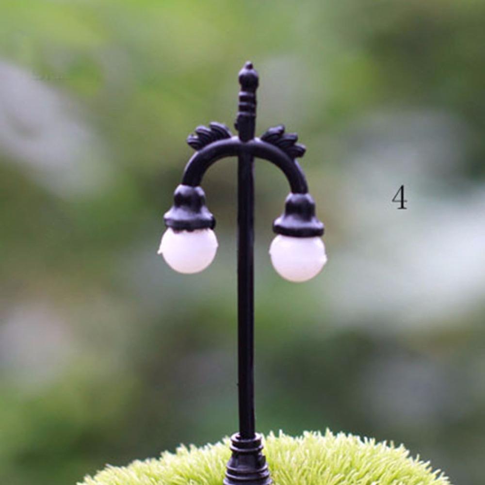3 Pcs Random Street Lamp Ornaments Garden Decoration Jardin Ornaments Men Made 2015 New Garden Jardin