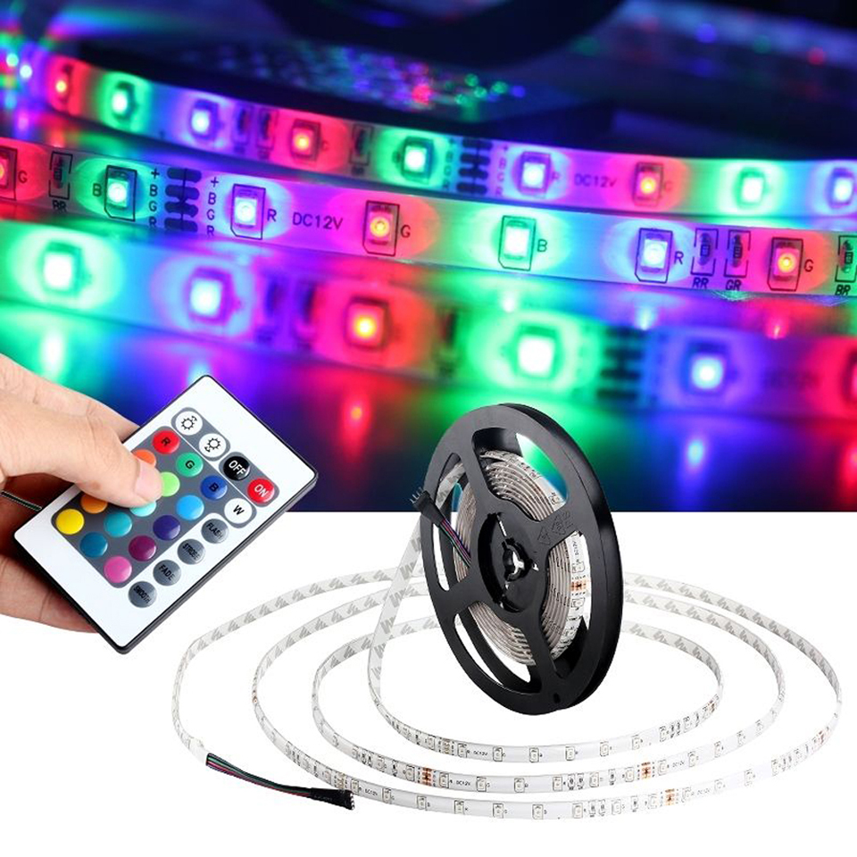 5M 2835 RGB 300 Led waterproof Flexible Strip light bright than 3528 tape lamp/24key Remote Controller/dc12v 2A Power Adapter(China (Mainland))