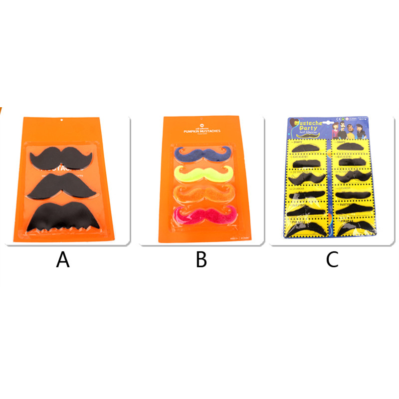1 Set Fake Beard Costume Party Halloween Christmas Fake Mustache Party Supplies Whisker for Cosplay(China (Mainland))