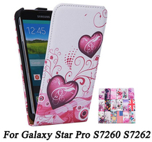 Fashion Cases Flip PU Leather Case For Samsung Galaxy Star Pro S7260 S7262 7260 7262 GT-S7262 Cover Pouch Phone Protector Covers