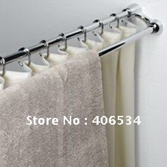 New Design Double Shower Rod SHOWER CURTAIN ROD AND TOWEL