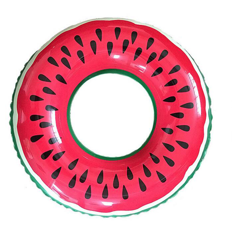 2016 New Summer Style Lovely Watermelon Adult/Child Thicken PVC Swimming Ring Floating Rings Inflatable Life buoy 60,70,80,90cm(China (Mainland))