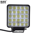 1 Piece LED Car Lights Square Shape 75W Cool White LED Work Lights 12 24V Waterproof