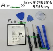 Lenovo K910 батарея 100% новый оригинальный BL216 3000 мАч батарея для Lenovo VIBE Z K910e смартфон в наличии бесплатная доставка + номер трека