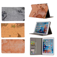 Buy New iPad Air 2 Folio Book Bracket Standing World Map Design PU Leather Funda Case iPad Air 2 Protective Tablet Case for $6.92 in AliExpress store