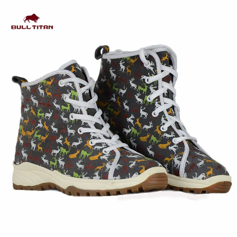 2015 Spring/Summer Women Fashion Sneakers Gray Print Elk Ankle Boots Biker Boots Skate Shoes Outdoor Boots Botas Femininas(China (Mainland))