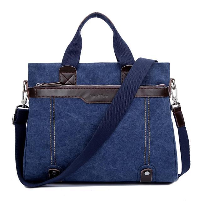Холст портфель мужчины сумку Бизнес ПР crossbody сумка мода ретро стиль Синий водонепроницаемая ...