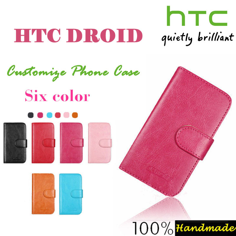 Flip Leather Phone Cover Case For HTC DROID INCREDIBLE 4G LTE 6410 With 2 Card Holder Bags Coin Wallet Retro Vintage Book Sttyle(China (Mainland))