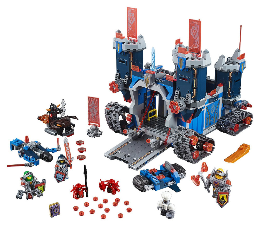LEPIN Nexus Knights The Fortrex Castle Building Block Set Clay Aaron Fox Axl Minifigures Kids Toy Compatible with Legoes 70317(China (Mainland))
