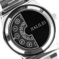 Men Gents Quartz Japan Movement Dial Wrist Watch black