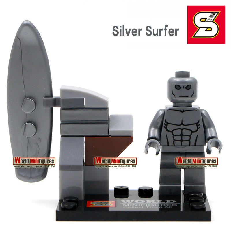 Silver surfer minifigure Single sale Shen yuan SY167-4 Marvel super hero Classic figures Best Collection Children Gift toys(China (Mainland))