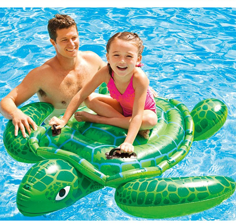 hot sale inflatable water toys baby kids cute sea turtle pool float inflatable swimming Pool tool free shipping(China (Mainland))