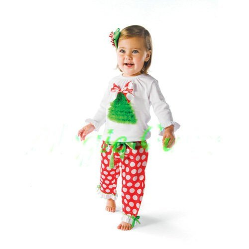 Freeshipping,5pcs/lot, Cute Baby Girl's Christmas Clothes, Clothes set, Baby Christmas Gift, Baby Wear