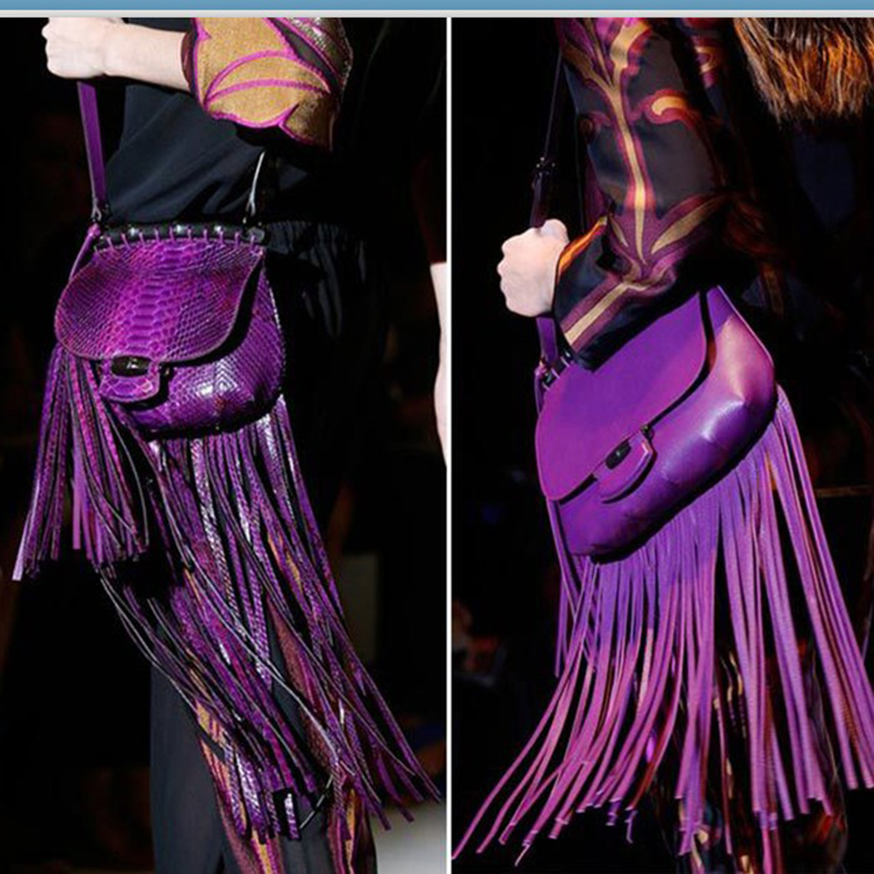 2015 New Fringe Europe&amp;United State Tassel Bamboo Genuine Leather Messenger Handbag Shoulder Personalized Fashion Female Package<br><br>Aliexpress