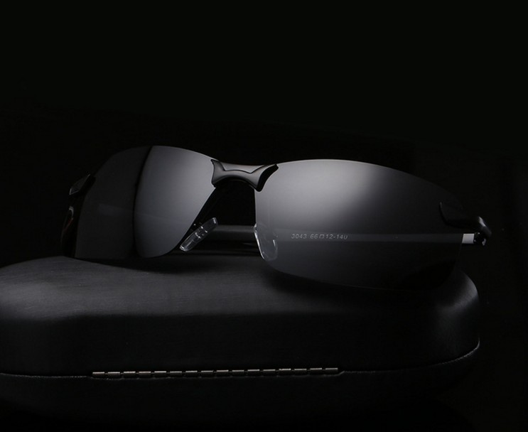 F4  men's aluminum-magnesium car drivers night vision goggles anti-glare polarizer sunglasses Polarized Driving Glasses + box